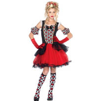 Teen Girls Playing Card Queen Costume