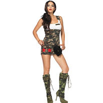 Adult Combat Cutie Army Costume