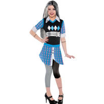 Girls Frankie Stein Costume Deluxe - Monster High