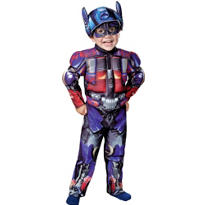 Toddler Boys Optimus Prime Muscle Costume