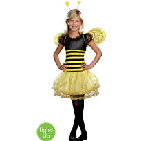Girls Light-Up Busy Lil Bee Costume