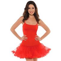 Adult Christmas Red Petticoat Dress