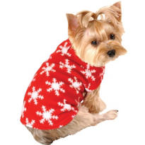 Snowflake Fleece Dog Jacket