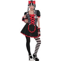 Teen Girls Goth Doll Costume