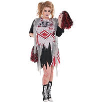 Adult Zombie Cheerleader Costume Plus Size