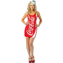 Adult Sexy Coca-Cola Bottle Costume