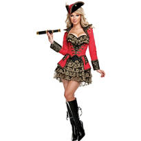 Adult Red Pirate Costume