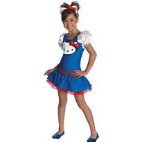 Girls Blue Hello Kitty Costume