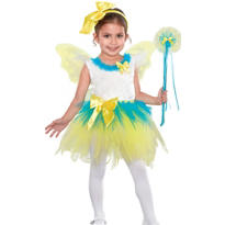 Toddler Girls Yellow Eloise Fairy Princess Costume