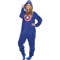 Adult Captain America One Piece Pajama