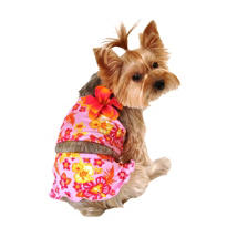 Pink Hawaiian Dog Swimsuit 2pc