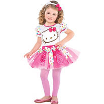 Girls Pink Hello Kitty Costume
