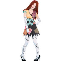 Adult Ragdoll Sally Costume - The Nightmare Before Christmas