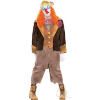 Adult D. Ranged Clown Costume Plus Size