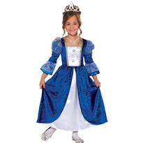 Girls Blue Frost Princess Costume