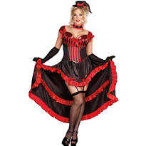 Adult Can-Can in Paris Dancer Costume Plus Size