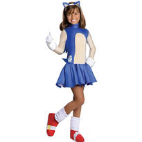 Girls Sonic Costume - Sonic the Hedgehog
