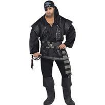 Adult Dark Sea Scoundrel Pirate Costume Plus Size