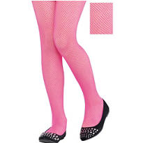 Child Pink Fishnet Pantyhose