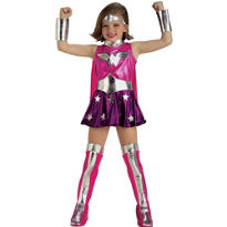 Toddler Girls Pink Wonder Woman Costume