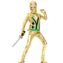Boys Gold Ninja Avenger Costume