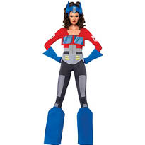 Adult Sassy Optimus Prime Costume - Transformers