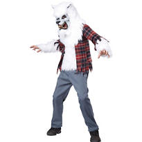 Boys White Werewolf Costume