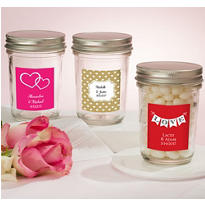 Personalized Mason Jar with Solid Lid <br>(Printed Label)</br>