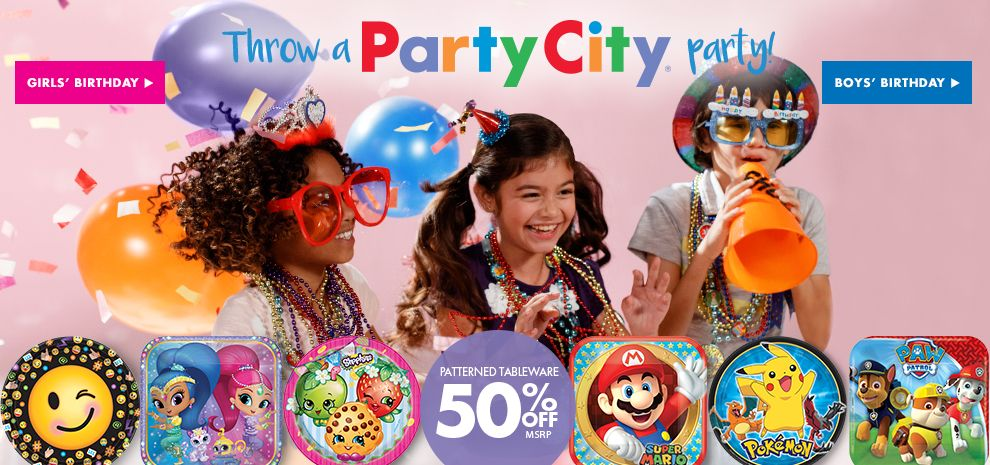 Party America is your one-stop for Party Supplies and everything for Birthdays, Themes Parties and a huge selection of solid color Tableware. Lawrence: | Topeka: Birthday Party Themes for every occasion. Open 7 Days a Week. Search online and purchase at our store.