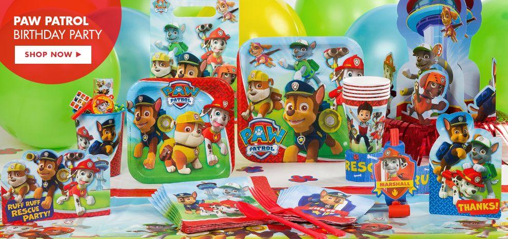 Paw Patrol Birthday Party Supplies