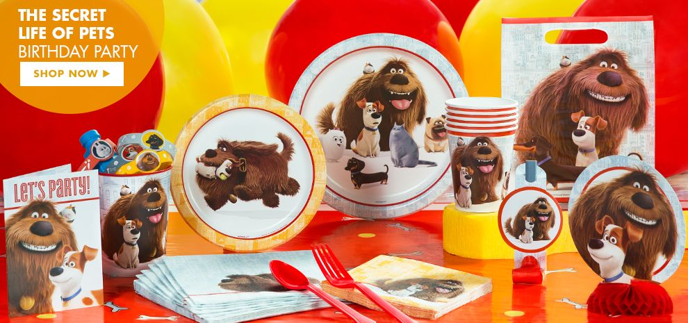 Secret Life of Pets Party Supplies