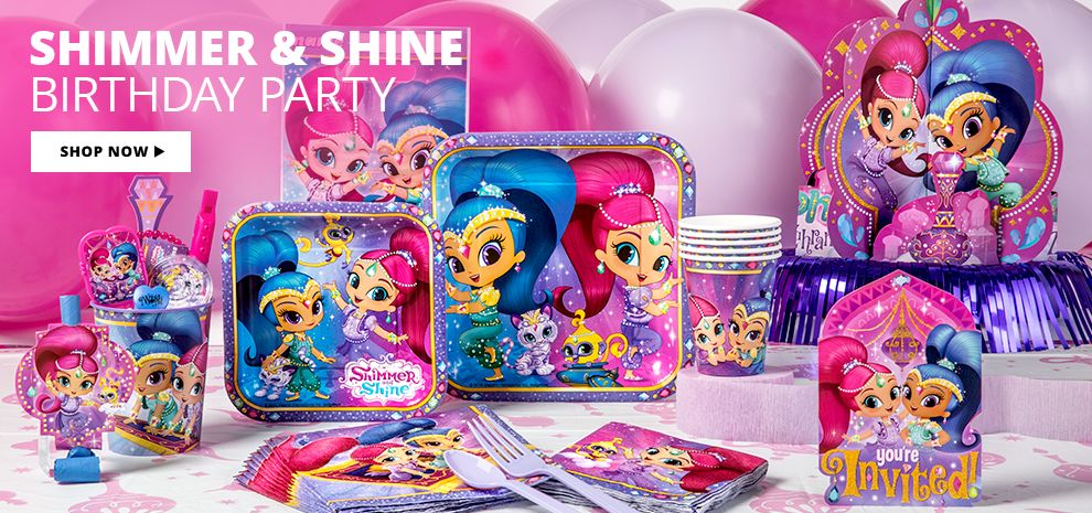 Shimmer & Shine Birthday Party Supplies Shop Now