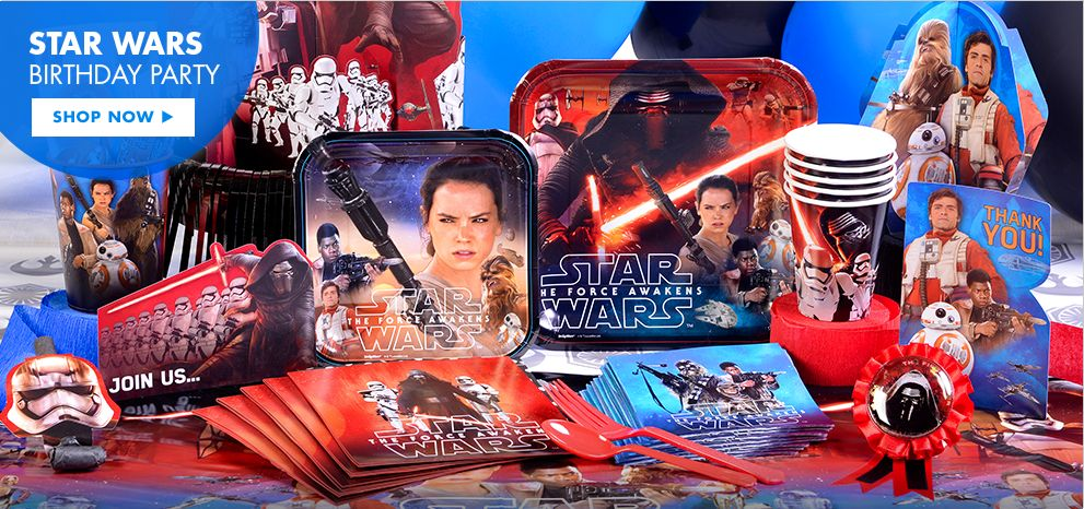 Star Wars Episode VII: The Force Awakens Party Supplies