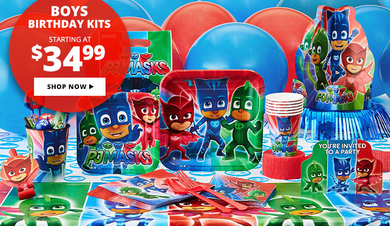 Boys' Birthday Party Supplies Starting at $24.99