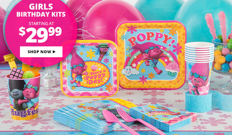 Girls' Birthday Party Supplies Starting at $21.99