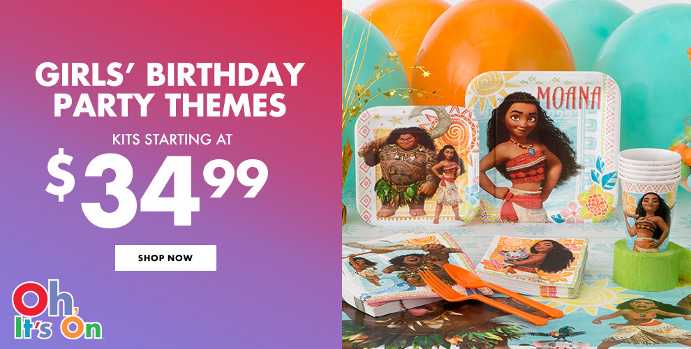 Girls' Birthday Party Themes Shop Now