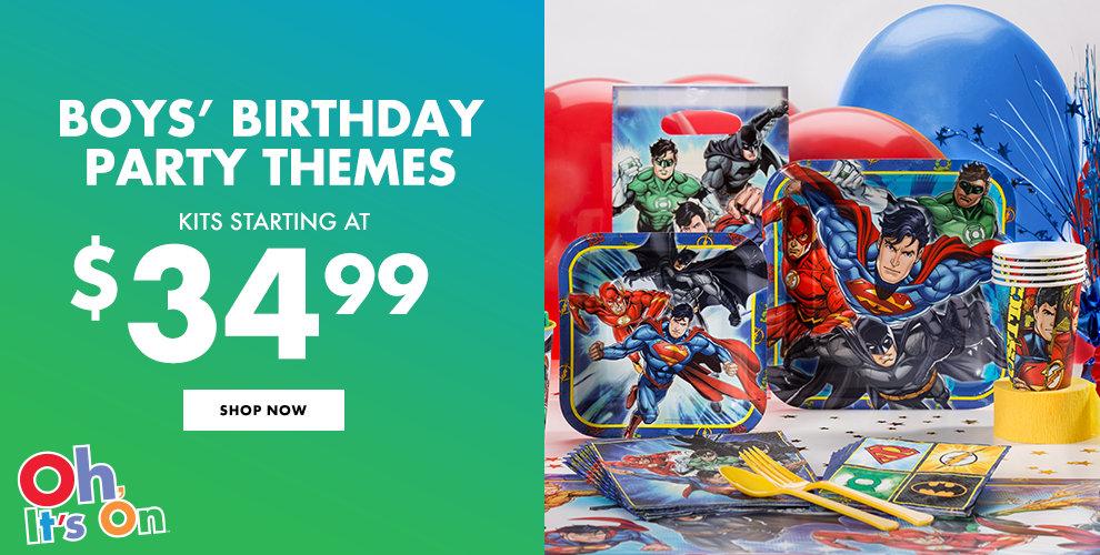 Boys' Birthday Party Themes Shop Now