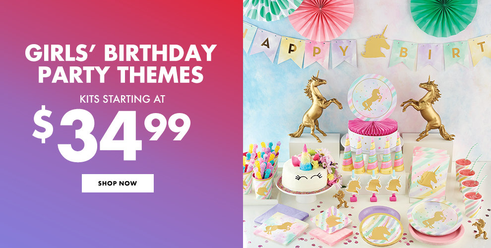 Girls' Birthday Party Themes Kits Starting at $34.99 Shop Now