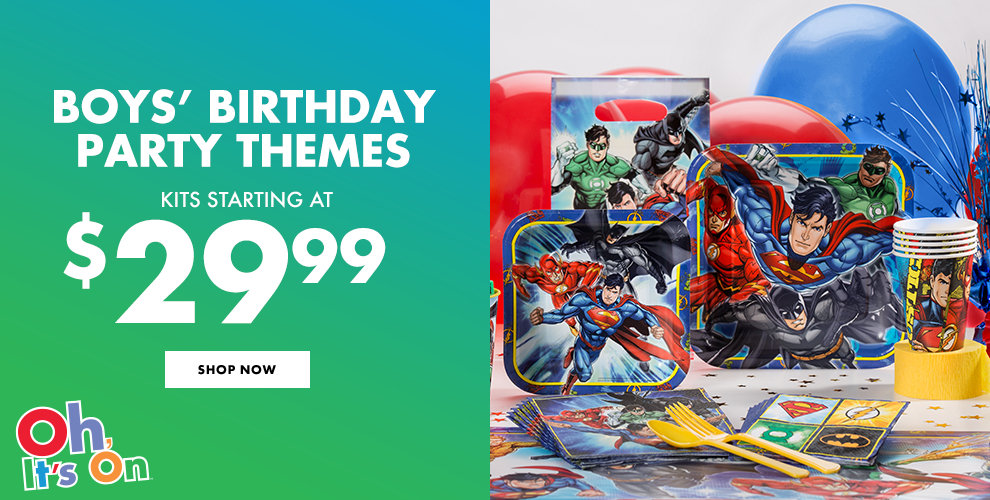 Boys' Birthday Party Themes Shop Now