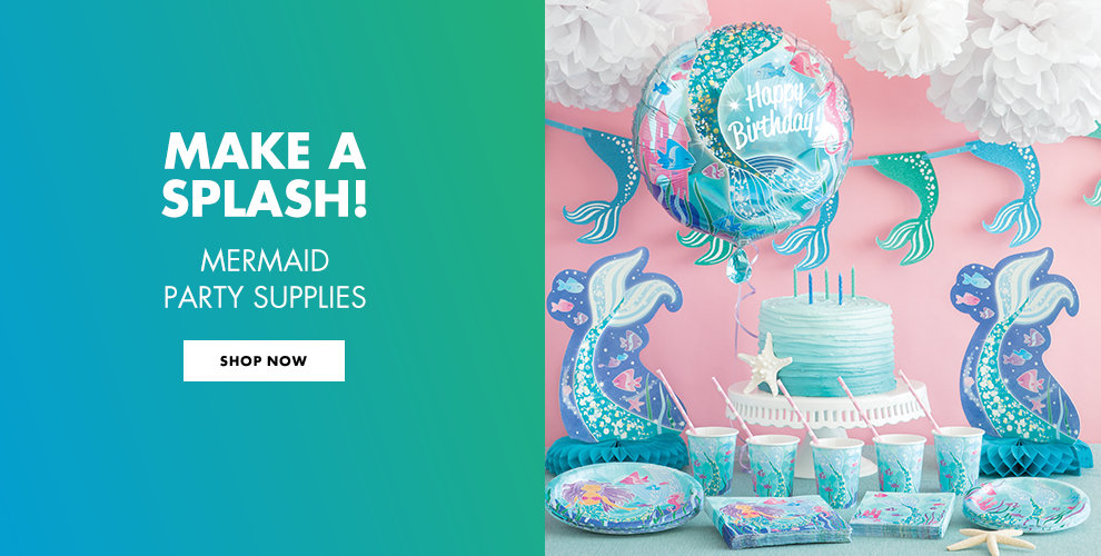 Make a Splash! Mermaid Party Supplies Shop Now
