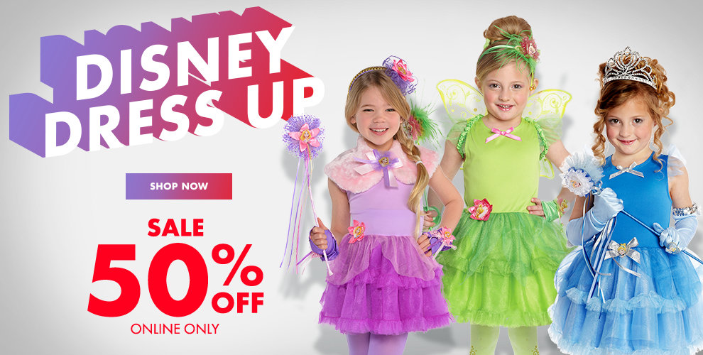 50% off Online Only Select Kids' Disney Princess Costumes & Accessories *Some Exclusions Apply Shop Now