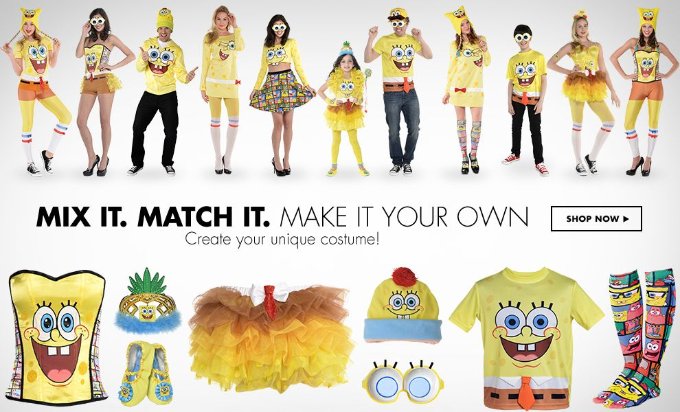 Shop Mix it. Match it. Spongebob Costumes