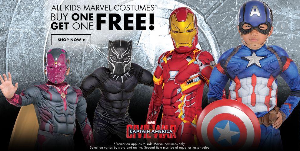 Shop Marvel Costumes & Accessories