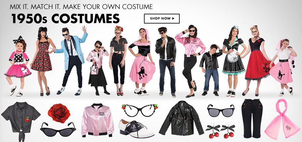Shop 1950's Costumes & Accessories
