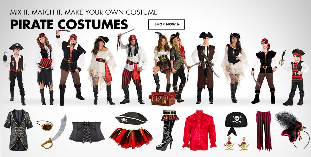 Mix it. Match it. Make Your Own Costume. Pirate Costumes