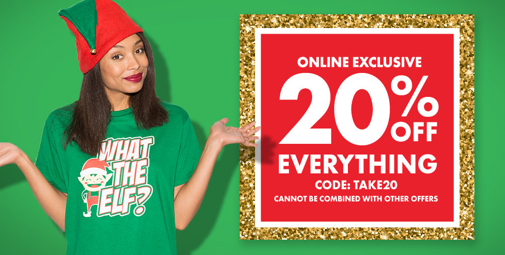 20% Off Everything with Code TAKE20
