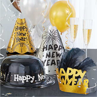 New Year's Eve Hats, Tiaras & More