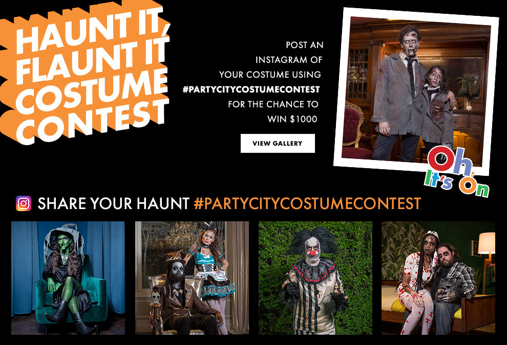 Haunt It. Flaunt It. Post It. Win It. #PARTYCITYCOSTUMECONTEST