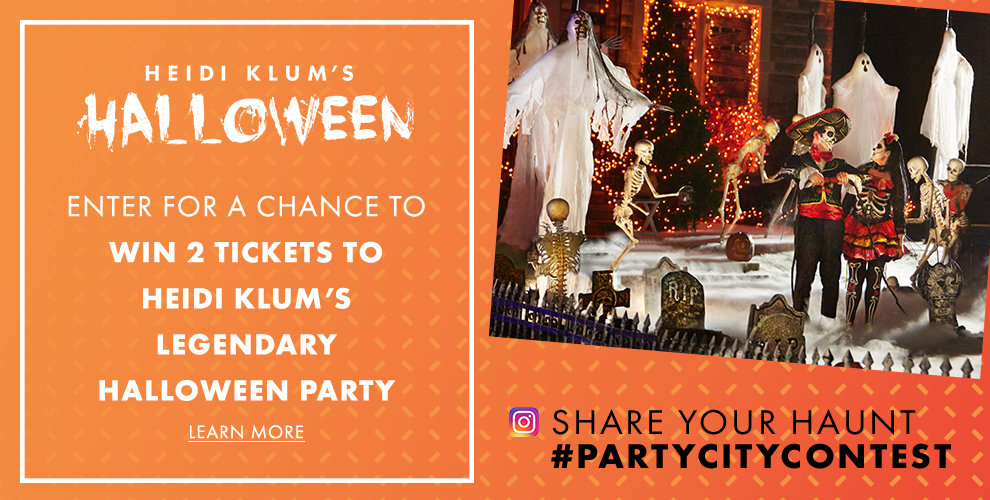 Enter for a chance to win 2 tickets to Heidi Klum's legendary Halloween Party! Click to Learn More Share your Haunt #PARTYCITYCONTEST