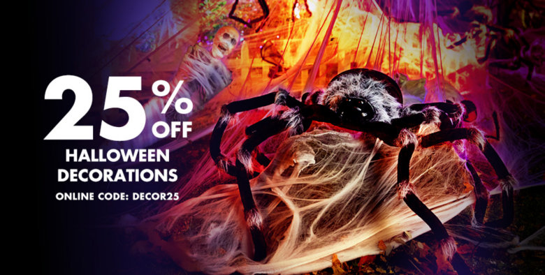 25% off All Halloween Decorations Use Online Code:DECOR25 Print Coupon